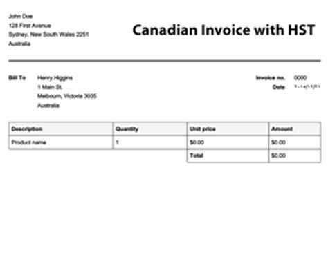 canadian invoice template   apps balladorus