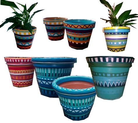 Mexican Pot by Mexican Flower Designs Mexican Flower Pot Design Crafts