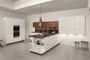 Etagere Blanche Et Bois : lot cuisine design d couvrez la p ninsule de cuisine ~ Teatrodelosmanantiales.com Idées de Décoration
