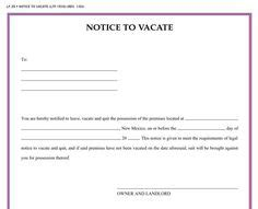free oregon 60 day notice to vacate form blank eviction notice form free word templates tenant