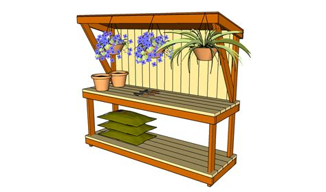 how to build a potting bench myoutdoorplans free