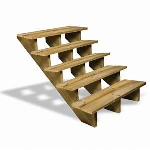 Escalier Extérieur En Bois : escalier en bois 5 marches deck linea ~ Dailycaller-alerts.com Idées de Décoration