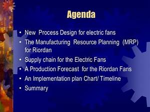 Process Flow Diagram For The Electric Fan Supply Chain