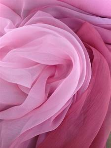 RESERVED NOT PUBLIC Crinkle Chiffon Silk Pink Ombré Fabric