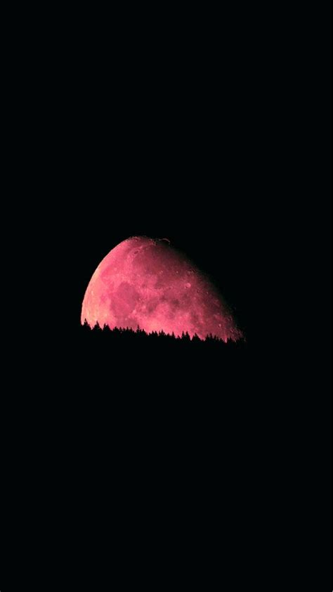 big red moon dark night iphone   wallpaper