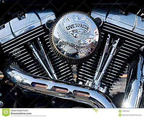 V-twin Motorcycle Engine Editorial Stock Photo. Image Of