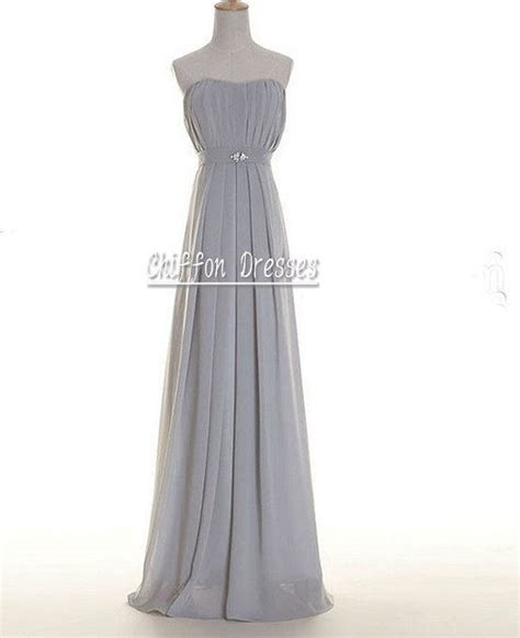 light grey bridesmaid dresses long pinterest