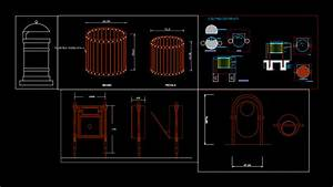waste, container, trash, can, 2d, dwg, block, for, autocad, , u2022, designs, cad