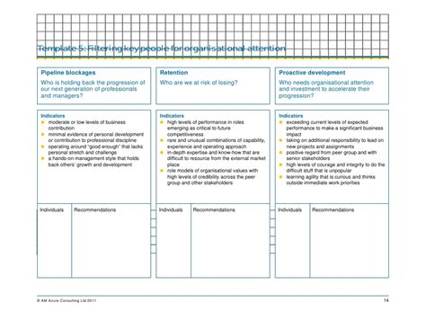 Executive Succession Planning Template by Succession Plan Templates Template Business