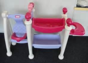 little tikes baby doll nursery center swing bath table ebay