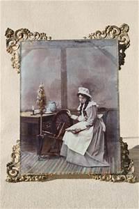 antique vintage ornate framed tinted photo portrait