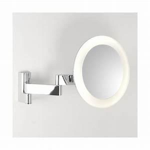 Miroir Rond Led : miroir grossissant led niimi rond astro lighting ~ Teatrodelosmanantiales.com Idées de Décoration