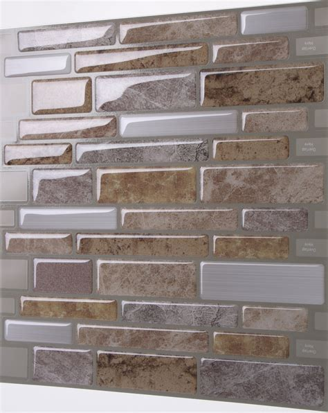 Peel And Stick Tiles by Tic Tac Tiles Anti Mold Peel And Stick Wall Tile In Polito