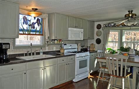 mobile home kitchen sinks single wide mobile home diy remodel makeover small 7556