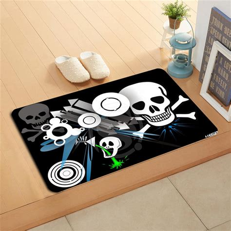 Skull Doormat by Jf R232 Custom Flower Skull Doormat Home Decor Door Mat