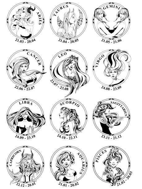 Best Zodiac Signs Gemini Tattoo Design Silhouette