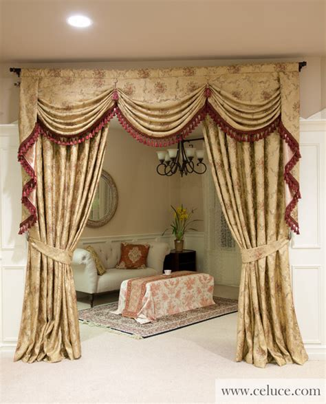 Swag Curtains For Living Room by Versailles Rose Premium Designer Swag Valances