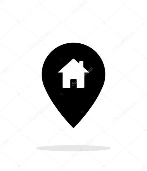 白い背景上のホーム アイコンで地図のピン. — ストックベクター © tkacchuk #59718691