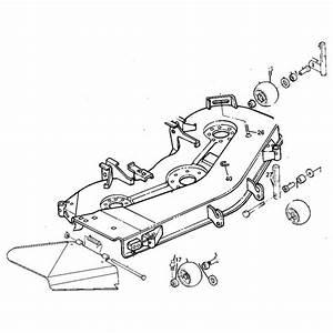 John Deere Oem 54 Inch Mower Deck Shell