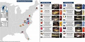 NCAA Basketball: The ACC – Conference map, with venues ...