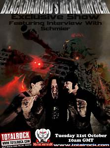 Upcoming Show 21/10/14: Interview With SCHMIER From ...