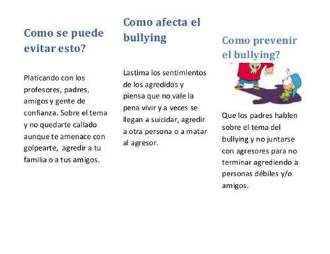 Bullying triptico
