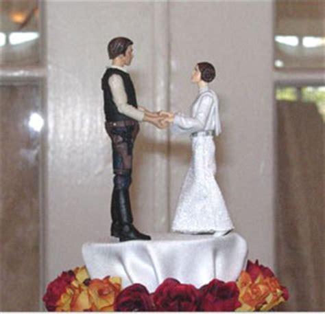 wedding  los angeles star wars wedding cake toppers