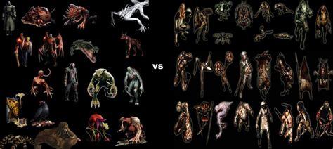 Resident Evil Monsters Vs Silent Hill Monsters By
