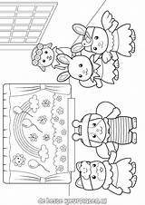 Coloring Sylvanian Pages Calico Critters Families Printable Dollhouse Print Adult Freekidscolorpages Cute Results Critter Sheets Colorear Coloriage Para Visit Find sketch template