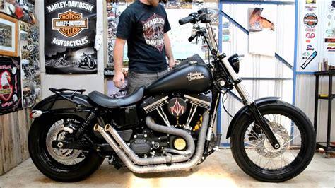 First Start Of My Homemade Harley Davidson Street Bob