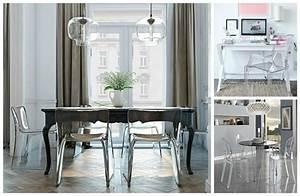 Chaise Moderne Avec Table Ancienne : la chaise transparente une tendance moderne et originale ~ Teatrodelosmanantiales.com Idées de Décoration