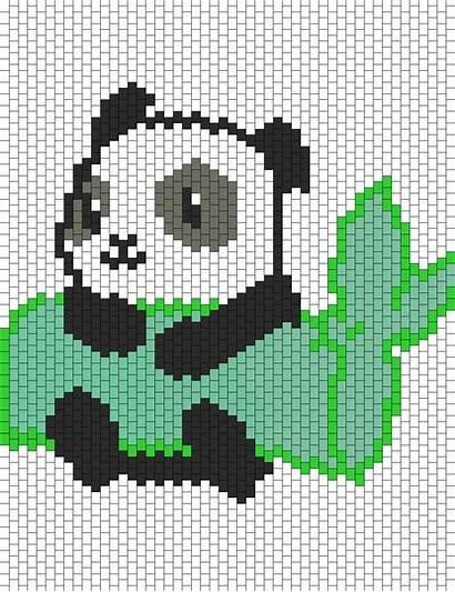 Panda Patterns Bamboo Bead Holding Pattern Animals