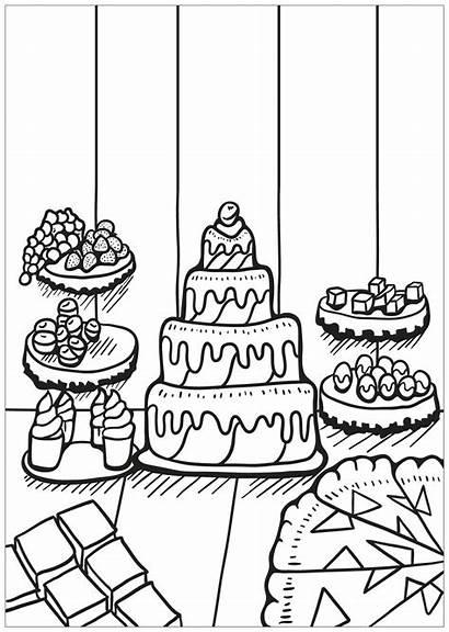 Coloring Cupcakes Cupcake Colorear Cakes Coloriage Cup