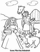Isaac Rebekah Coloring Pages Sheet Abraham Marries Bible Sunday Activities Sarah Ishmael Sheets Dogg Snoop Bride Well Crafts Genesis Biblia sketch template