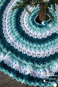 christmas tree skirt crochet pattern