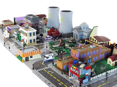 the lego version of springfield is the best simpsons fan