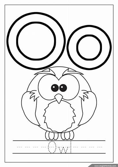 Coloring Alphabet Pages Letter Owl Preschool Preschoolers