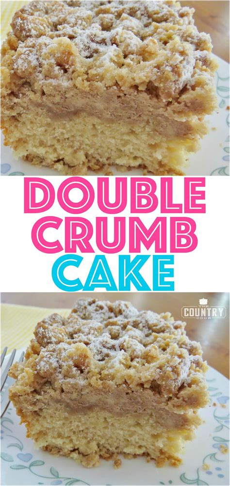homemade double crumb cake recipe  country cook