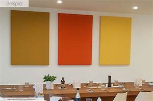 Schallschutz Wohnung Wand : schallschutzbilder mit kunden motiv einfarbig alle gr en ab 145 ~ Watch28wear.com Haus und Dekorationen
