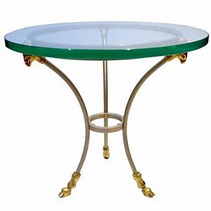 1960s neoclassical stainless steel and brass small With small brass coffee table