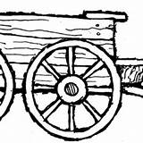 Wagon Farm Clipart Coloring Pages Covered Drawing Cliparts Clipartmag Clipground sketch template