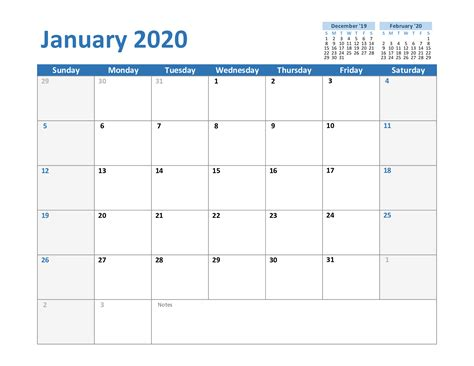 january printable calendar excel word printable