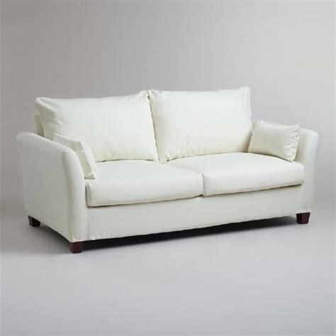 World Market Khaki Luxe Sofa by Ivory Luxe Sofa Slipcover World Market