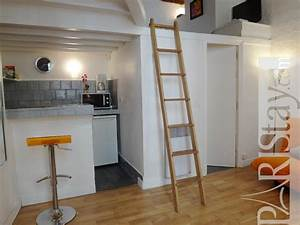 Studio Mezzanine Paris : paris location meubl e appartement type t1 studio buci ~ Zukunftsfamilie.com Idées de Décoration