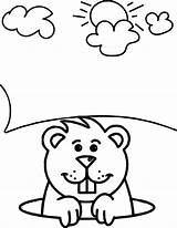 Groundhog Coloring Pages Sheets Printable Wecoloringpage Colouring Awesome Happy Template Sketch Fun Getcolorings Colori sketch template