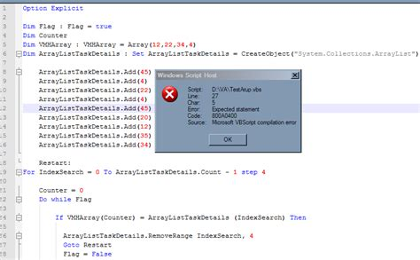 excel vba can we reset for loop counter in vbscript