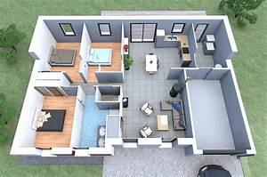 inspiration de plan de maison 3 chambres garage alliance With plan maison de campagne 6 la maison plain pied moderne