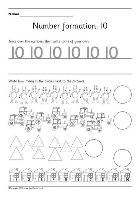 writing numbers formation worksheets 10 20 sb5015