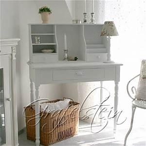 Schreibtisch Vintage Weiß : vintage sekret r gustavian wei konsole mit aufsatz shabby ~ Lateststills.com Haus und Dekorationen