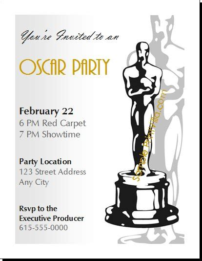 oscar invitation templates